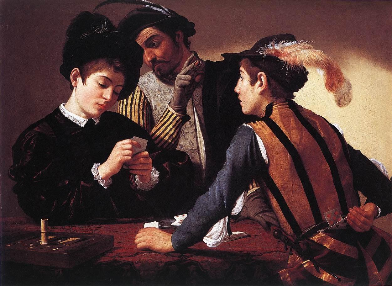 """Obraz Caravaggia """"Szulerzy"""""""