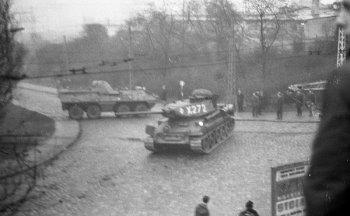 Blokada wojskowa na skrzyżowaniu ul. Czerwonych Kosynierów (ob. Morska), Podjazd i Śląskiej, 17.12.1970r.