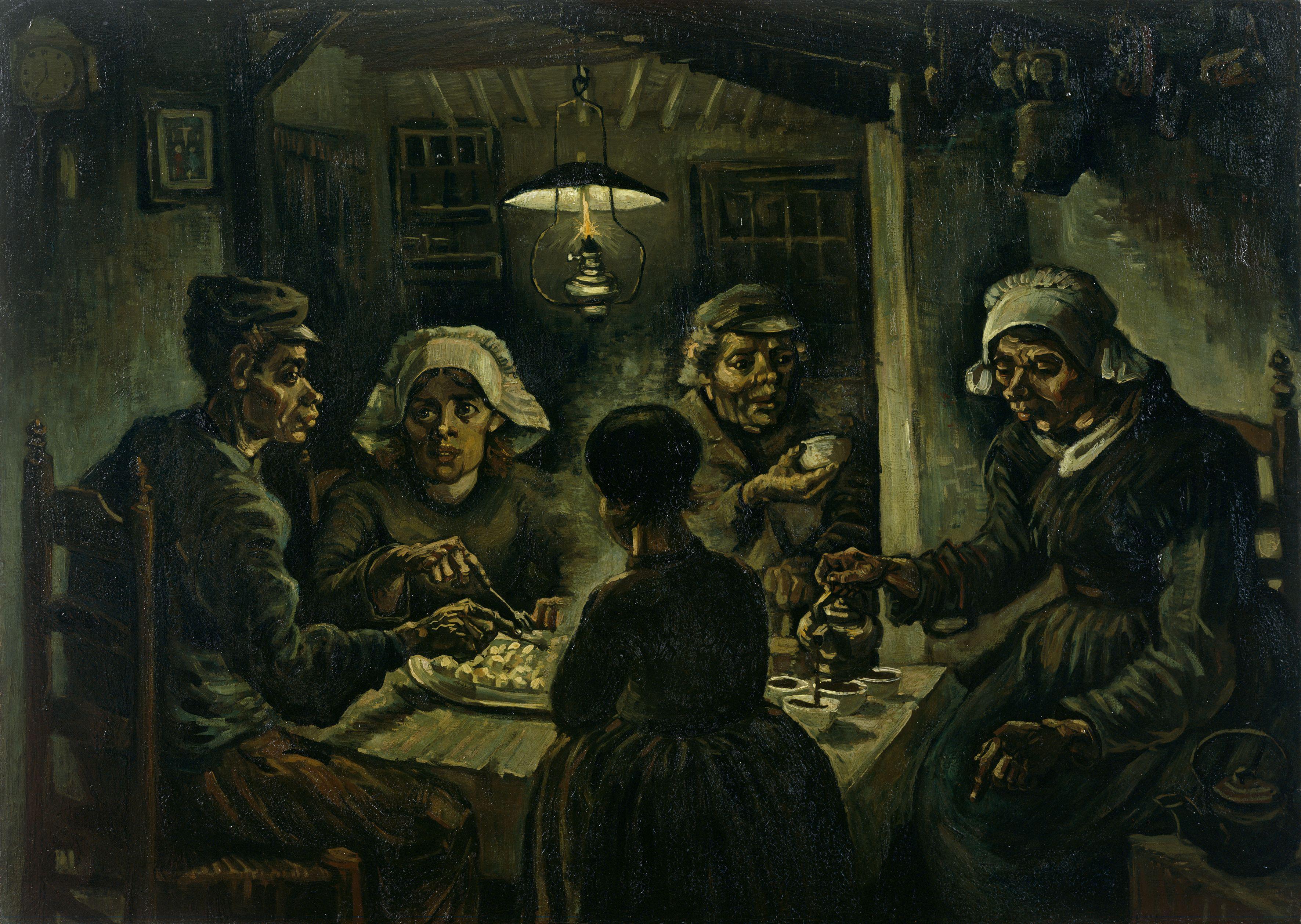 """""""jedzący kartofle"""", obraz Van Gogha"""