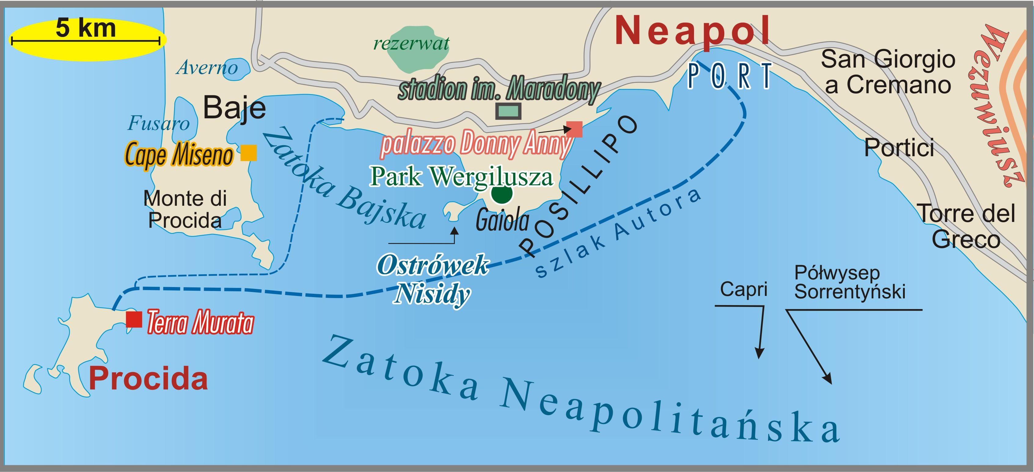 Mapa Zatoki Neapolitańskiej