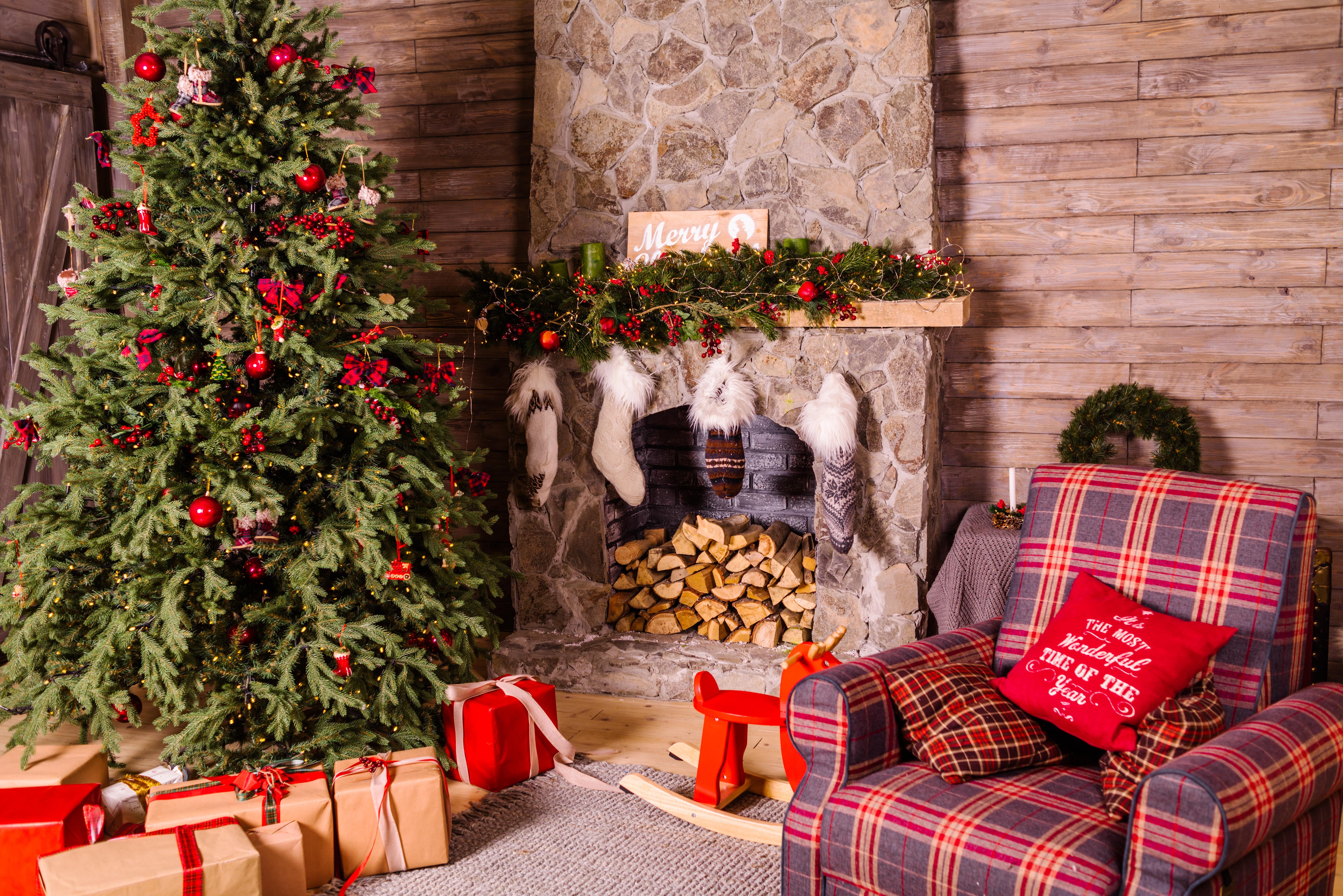 Pokój przystrojony świątecznie