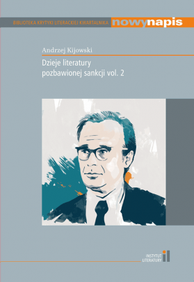 Okładka - Dzieje literatury pozbawionej sankcji vol. 2