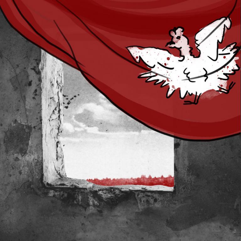 Czerwona Flaga i orzeł biały