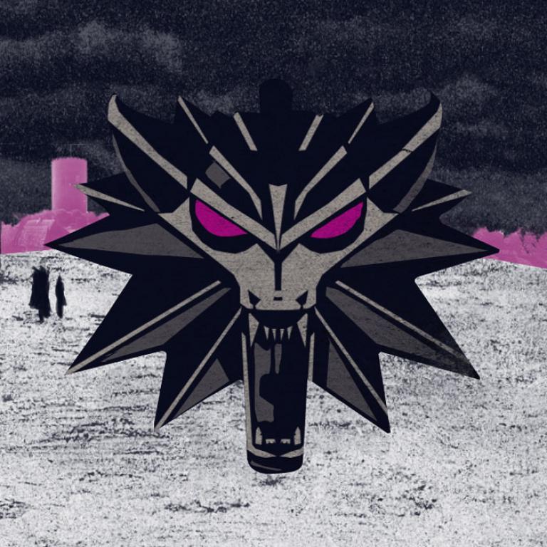 Grafika z wilkiem