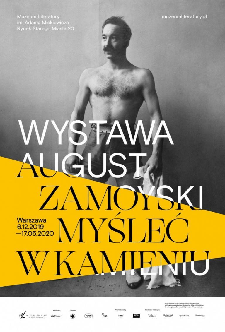 Plakat z wystawy prac Zamoyskiego