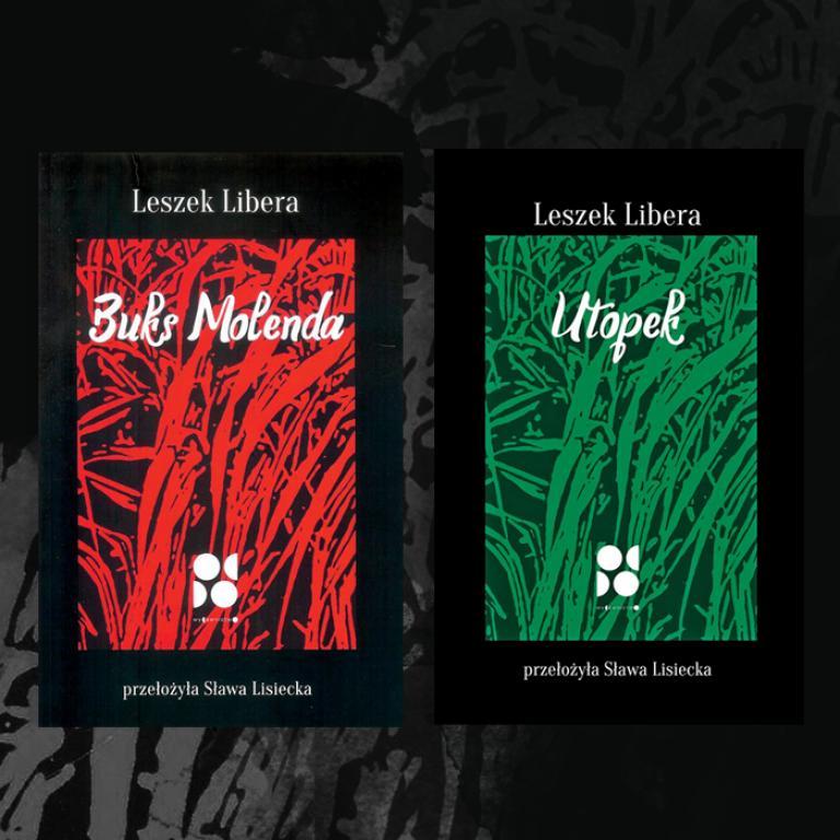 """Okładki książek """"Utopek"""" oraz """"Buks Molenda"""""""